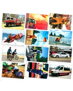 Emergency Services Posters Set of 12