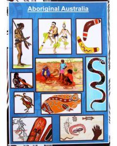 Aboriginal Australia Poster Laminated A3