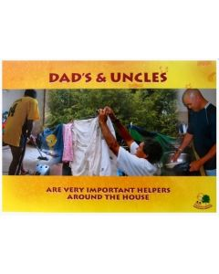 Aboriginal Dads and Uncles Poster Laminated A3