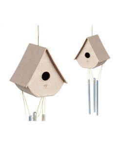 Papier Mache Birdhouse