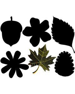 Scratch Art Leaves 24pcs