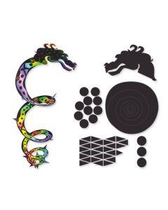 Scratch Art Dragon Mobiles 10pcs