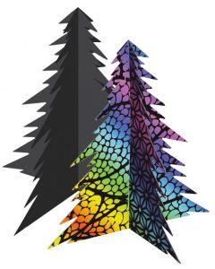 Scratch Art 3D Christmas Trees 20pcs