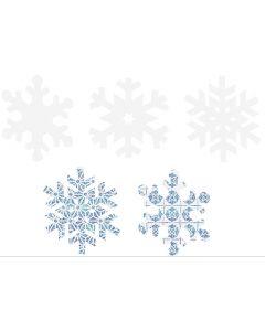 Scratch Art Snowflakes 30pcs