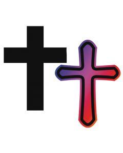 Scratch Art Crosses 10pcs