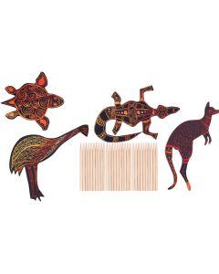 Scratch Art Australian Animals 30pcs