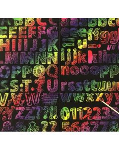Scratch Art Letters and Numbers 174pcs