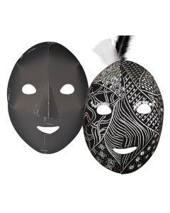 Scratch White Face Full Masks 20pcs