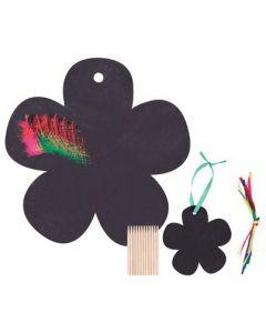 Budget Scratch Art Flowers 36pcs