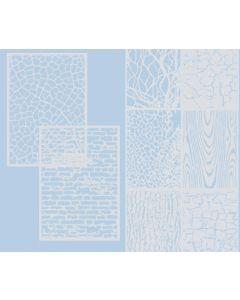 Stencil Texture Sheets 8pcs