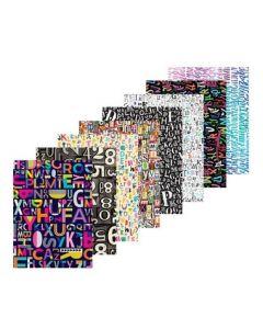 Type Pattern Paper 40pcs