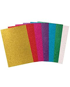 Glitter Paper Assorted A4 20pcs