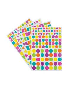 Adhesive Shapes Assorted 4170pcs