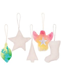 Pre-Filled Calico Christmas Ornaments 10pcs