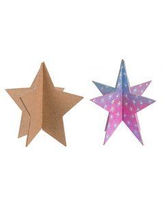 Papier Mache 3D Stars 10pcs