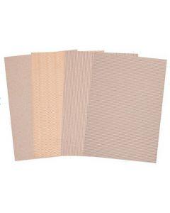 Corrugated Natural Card A4 20pcs