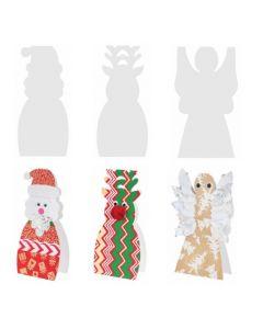Cardboard Standing Christmas Characters 12pcs