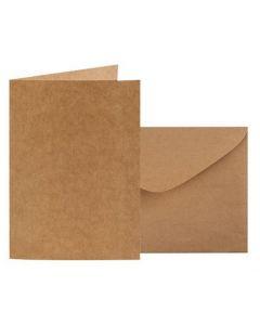 Kraft Card & Envelope 12cm x 17cm (folded) 20pcs
