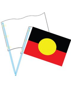 Blank Card Flags with Plastic Poles 60pcs