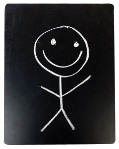 Large MDF Blackboard Slate 40cm X 30cm