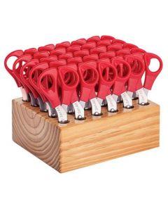 Wooden Scissor Block with 30 RH Utility Scissors
