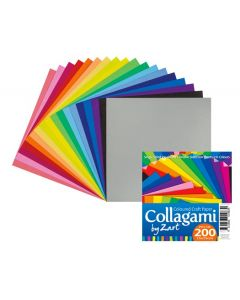 Collagami Coloured Craft Paper 200pcs