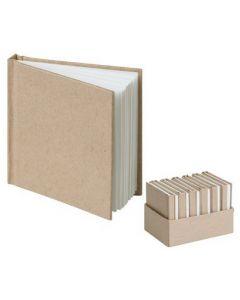 Kraft Mini Notebooks 7.5 x 7.5cm 12pcs