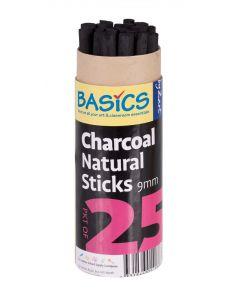 Thick Natural Charcoal Sticks 25pcs