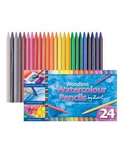 Woodless Watercolour Pencils 24pcs