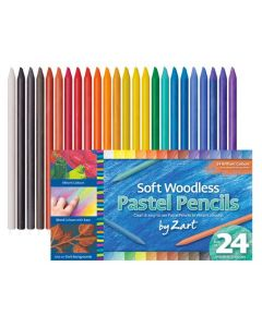 Woodless Soft Pastel Pencils 24pcs