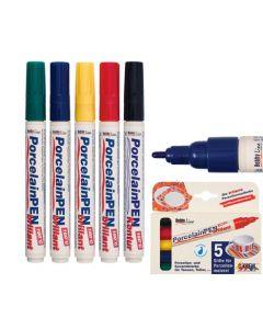 Porcelain Markers Assorted Colours 5pcs