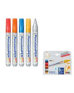 Porcelain Markers Metallic Colours 5pcs