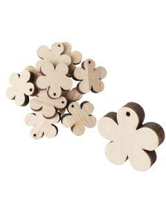 Wooden Flowers 12pcs