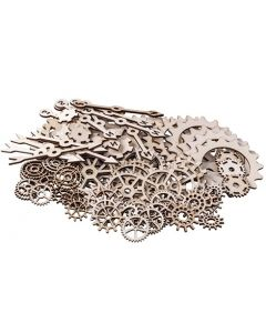 Wooden Gears, Cogs and Pointers 100pcs