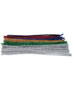 Chenille Tinsell Stems Assorted Colours 30cmx150pcs