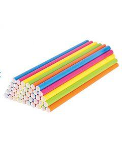 Eco Paper Straws Coloured 500pcs