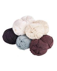 Acrylic Wool Neutral Asst 5pcs