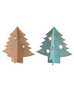Papier Mache 3D Trees 10pcs