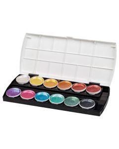 Pearlescent Watercolours Set 12 Colours