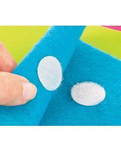 Adhesive Hook and Loop Fastener Dots 75pcs