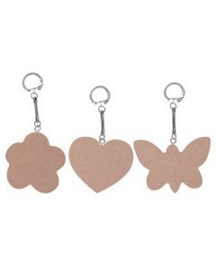 Nature Keyrings With Wooden Tags 10pcs
