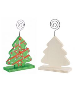 Wooden Tree Stand With Photo Holder