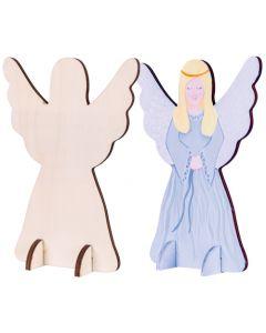 Wooden Standing Angels 10pcs