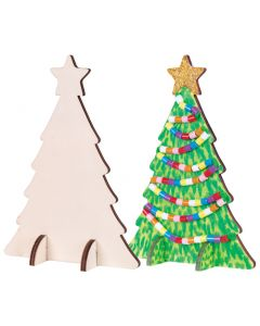 Wooden Standing Trees 10pcs