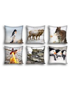 Snowy Winter Cushion COVERS ONLY Set of 6