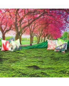 Welcome Spring Dramatic Play Scene Complete: Carpet, Backdrop and 6 Cushion Covers With Inserts