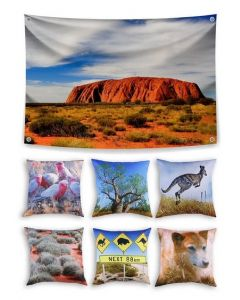 Australia Themed Backdrop and 6 Cushion Covers With Inserts