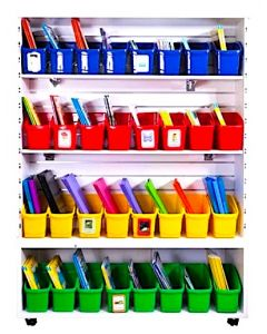 Book and Storage Tubs Set of 32