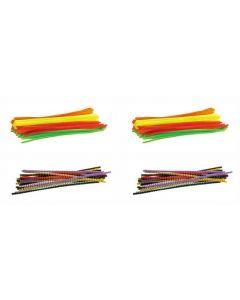 Chenille Stems Fluoro and Striped 400pcs
