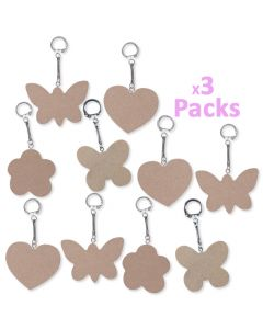 Mother's Day Keyrings With Wooden Tags 30pcs